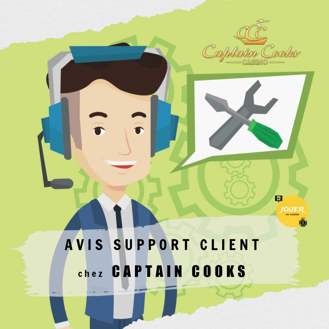 avis support client casino captain cooks