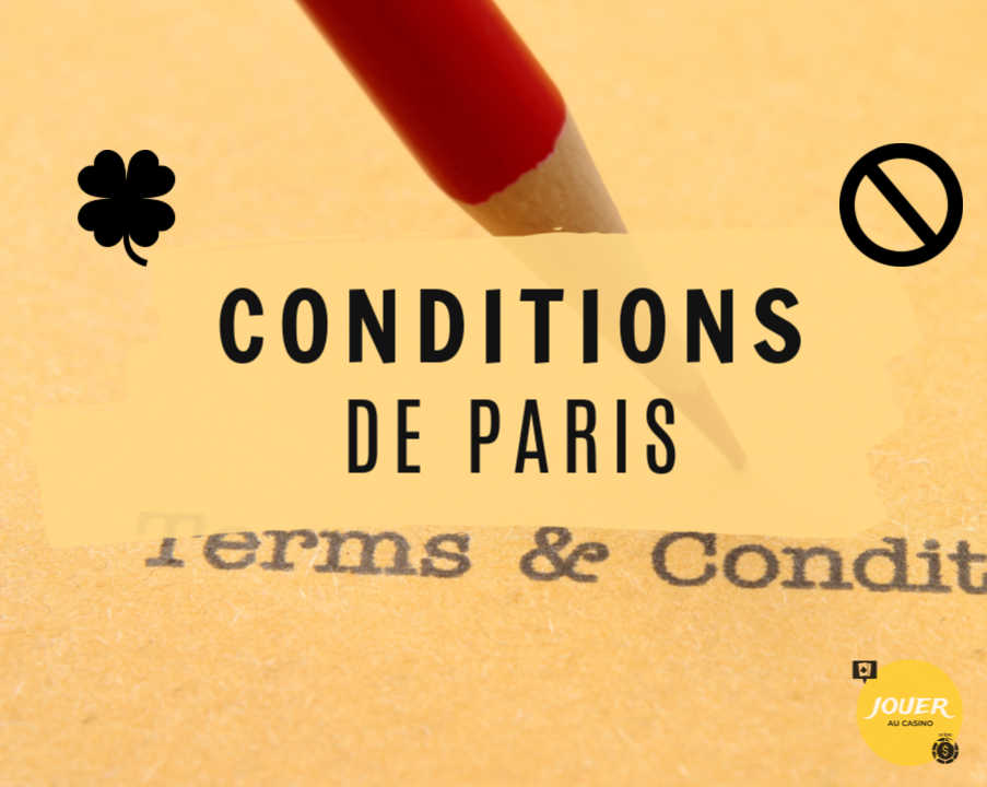 conditions de paris des bonus casino en ligne