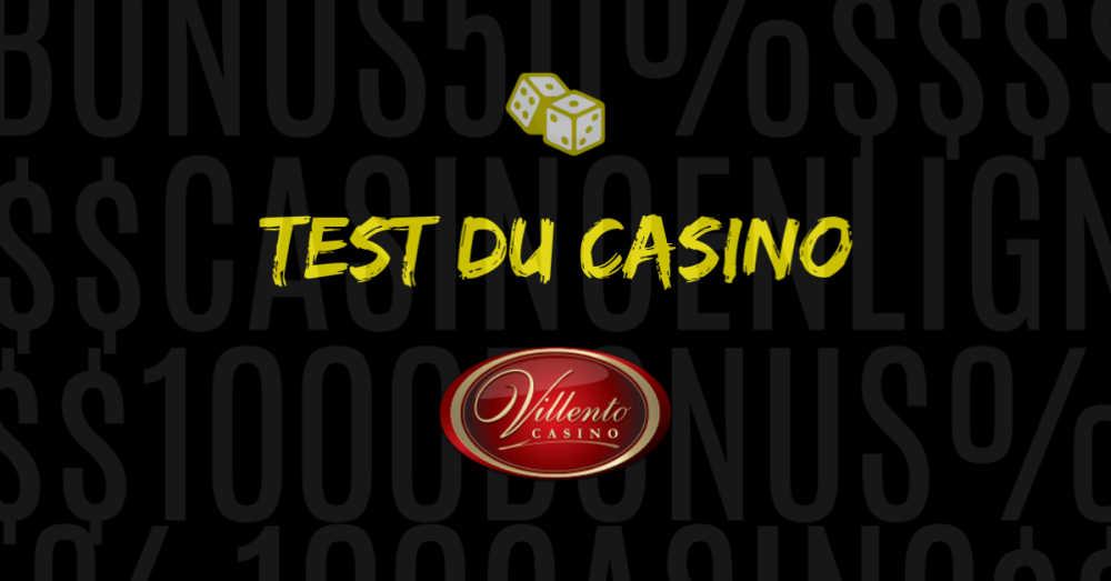 test du casino en ligne villento avis