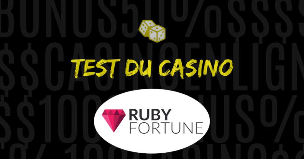 avis sur le casino en ligne ruby fortune