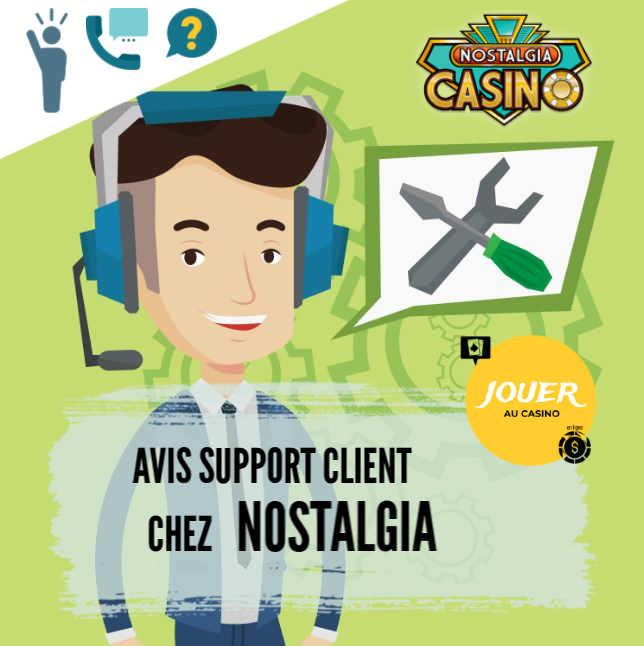 support client casino en ligne nostalgia