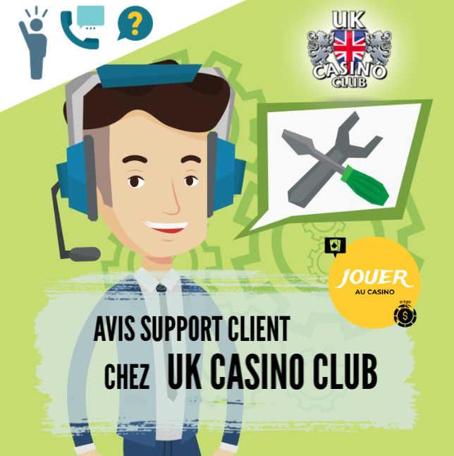 support client chez UK casino club