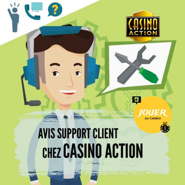 support client chez casino action