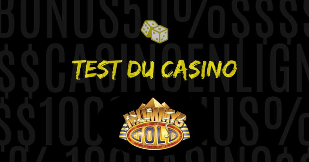 test du casino mummys gold