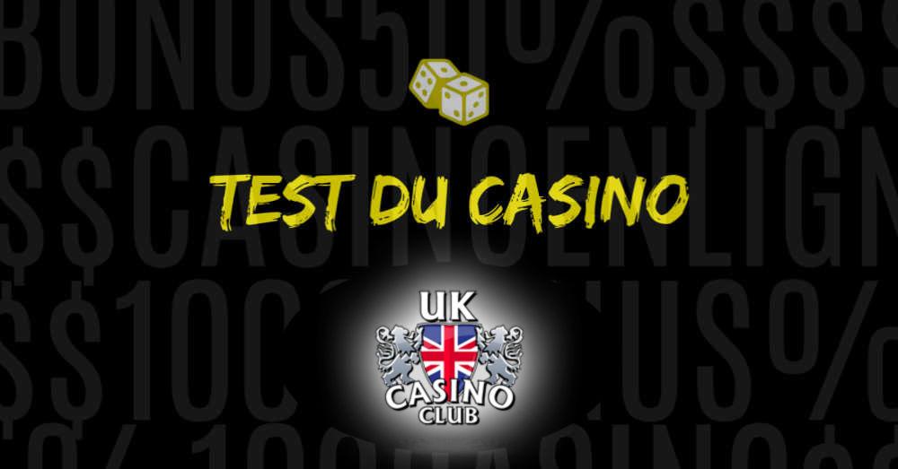 test du site UK casino Club
