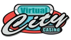 virtual city casino white logo