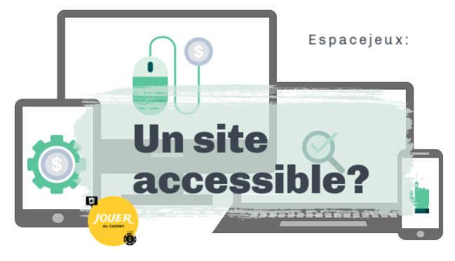 espacejeux un site accessible sur mobile tablette pc