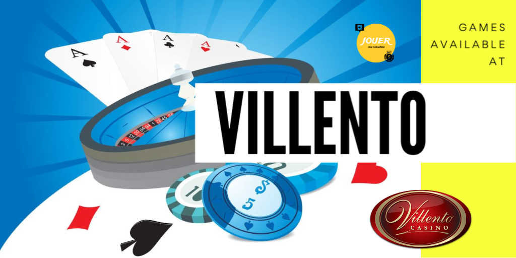 casino games available at villento