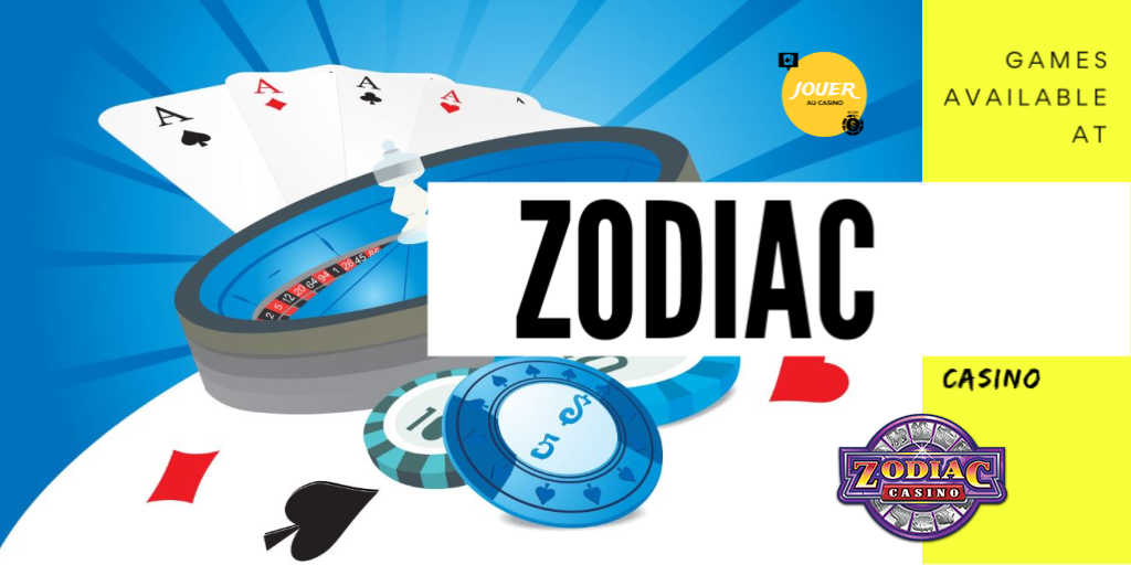 online casino games at zodiac