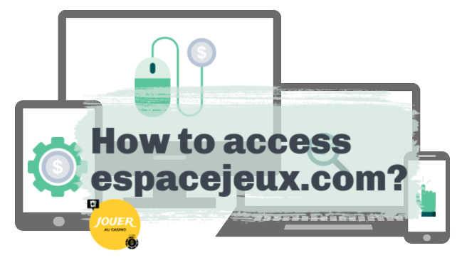 espacejeux a site accessible on mobile tablet pc