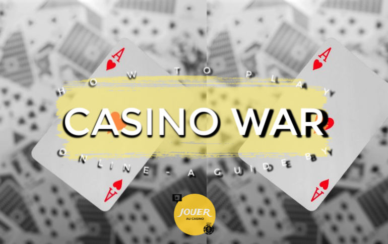 online casino war card game