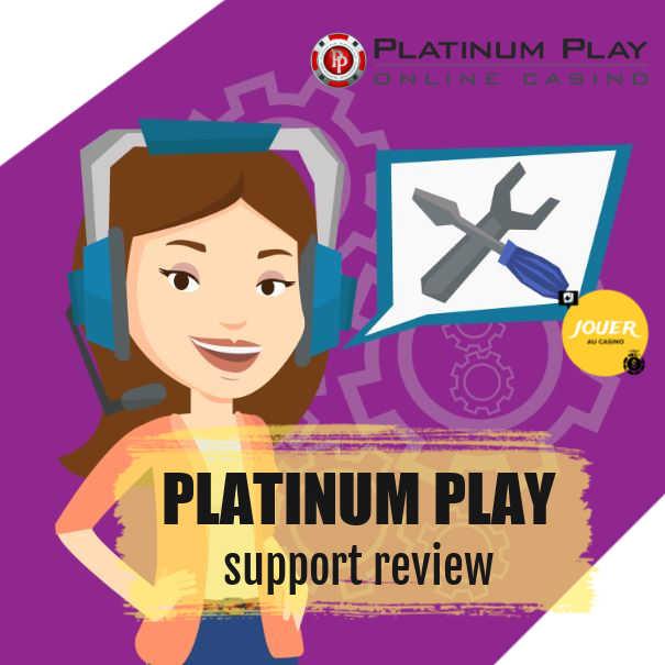 customer support platinum play casino