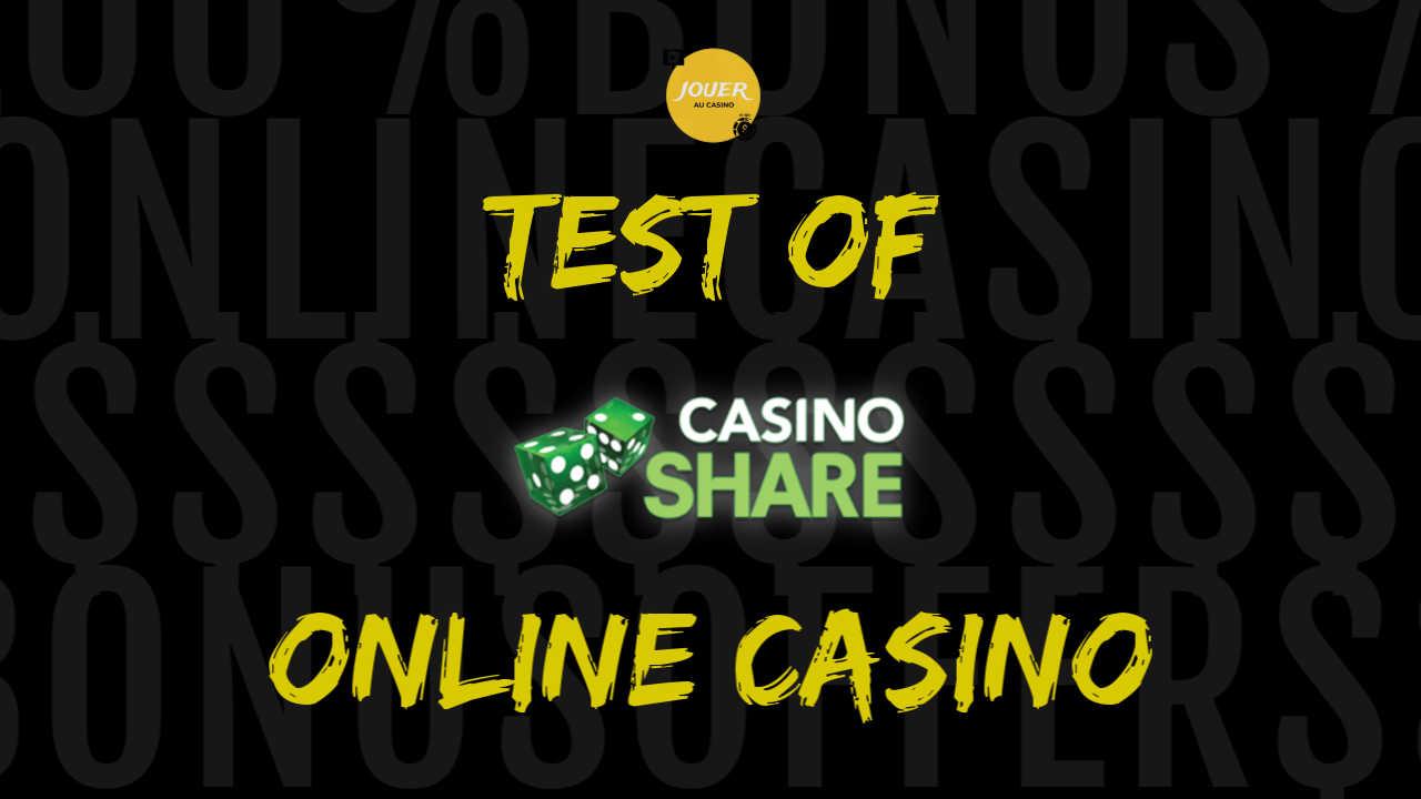 test of the online casino casinoshare