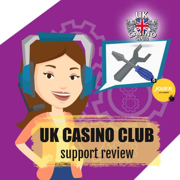 customer support at UK casino club