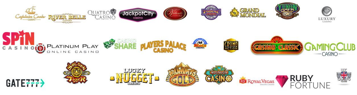 all online casino logos